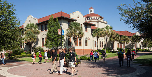 Students in front of West Hall