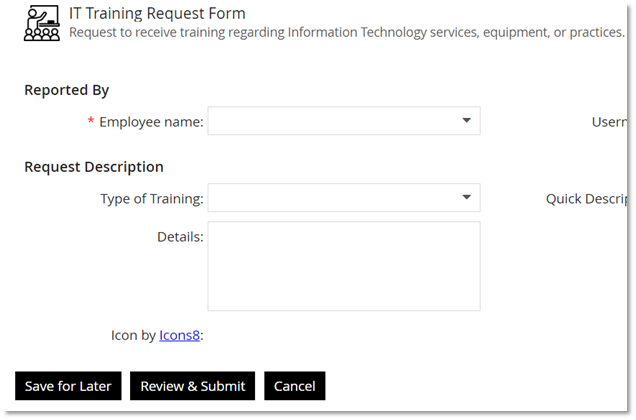 Form Submission Buttons