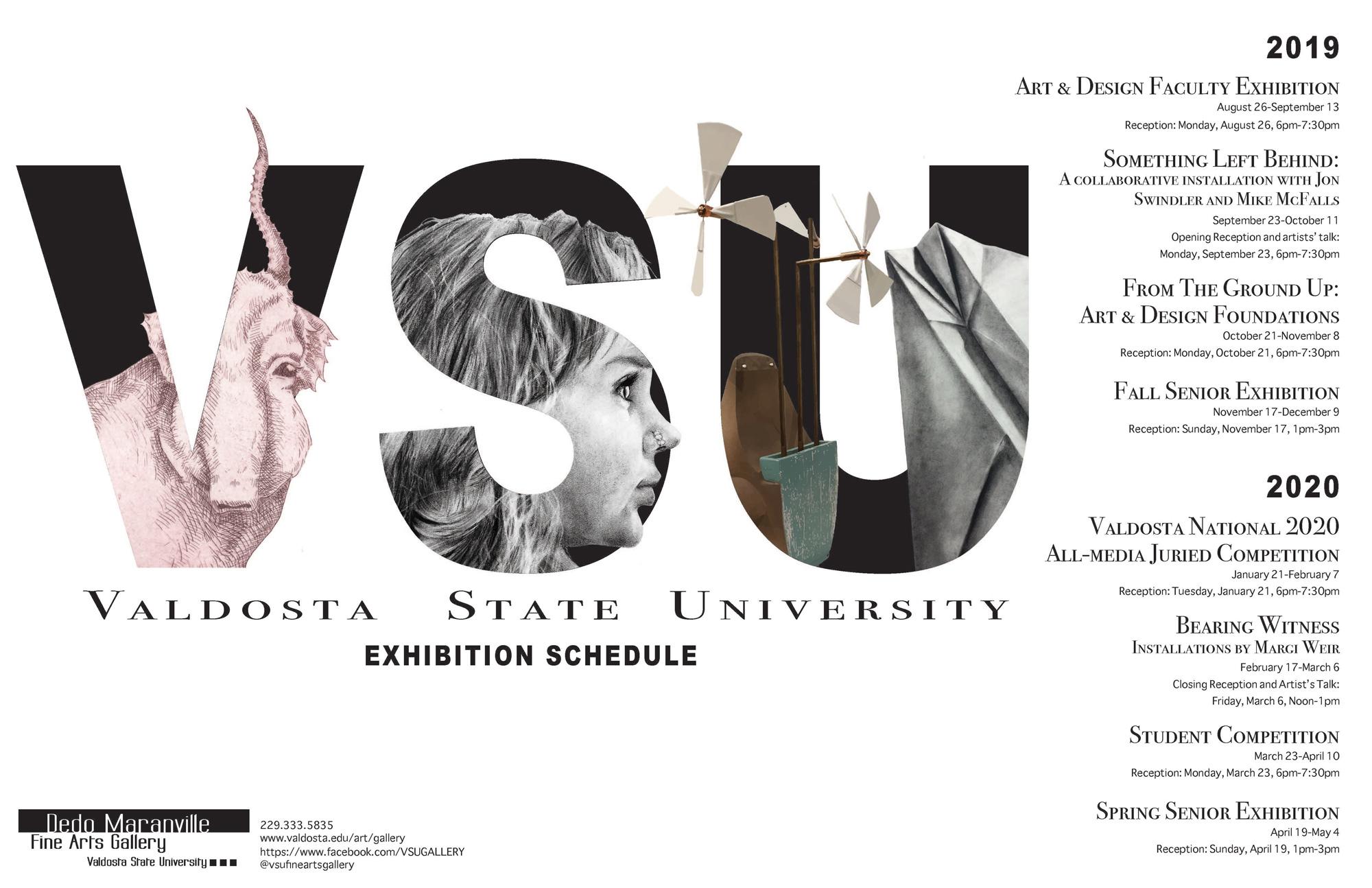 Valdosta Senior Center December Calendar 2020 Dedo Maranville Fine Arts Gallery   Valdosta State University