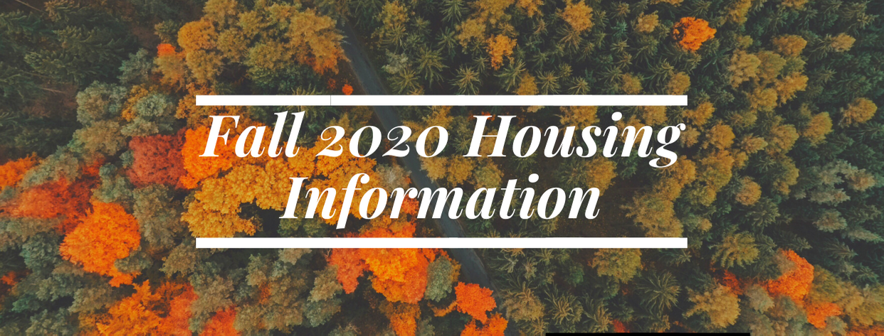 Fall Housing Information