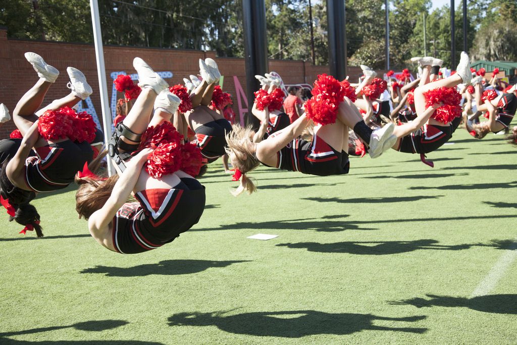 Cheerleaders Back Flip