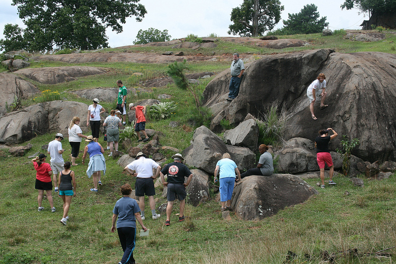 VSU faculty members lead teachers on geologic excursion