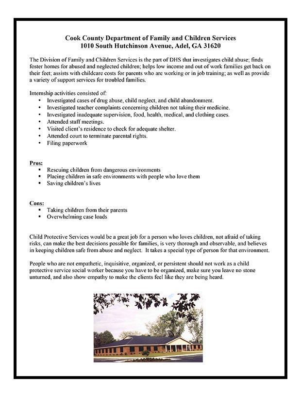 SOCI 4540 Internship in Sociology Gallery - Valdosta State